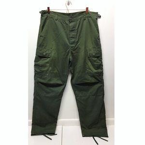 Army Green Utility Pants Regular Large Adjustable